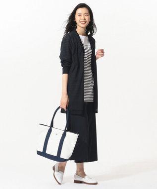 J.PRESS LADIES 【洗える】コットンナイロンシルキーローン ワイドパンツ ネイビー系