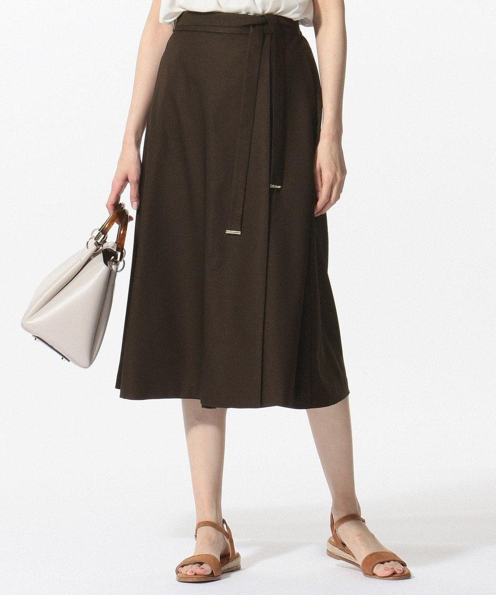 J.PRESS LADIES 【セットアップ対応】リネンライクオックス スカーチョ ブラウン系