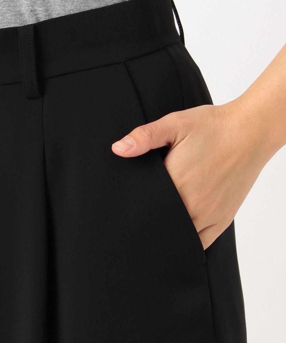 J.PRESS LADIES L 【ニオイ菌を抑える】ヴィーナスダブルクロス ガウチョパンツ ブラック系