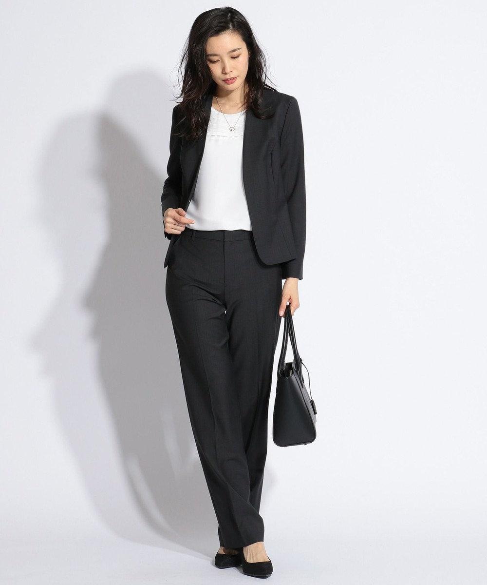 J.PRESS LADIES L 【スーツ対応】BAHARIYE2 パンツ ブラック系