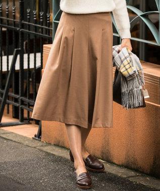 J.PRESS LADIES S サキソニーストレッチ スカーチョ キャメル系