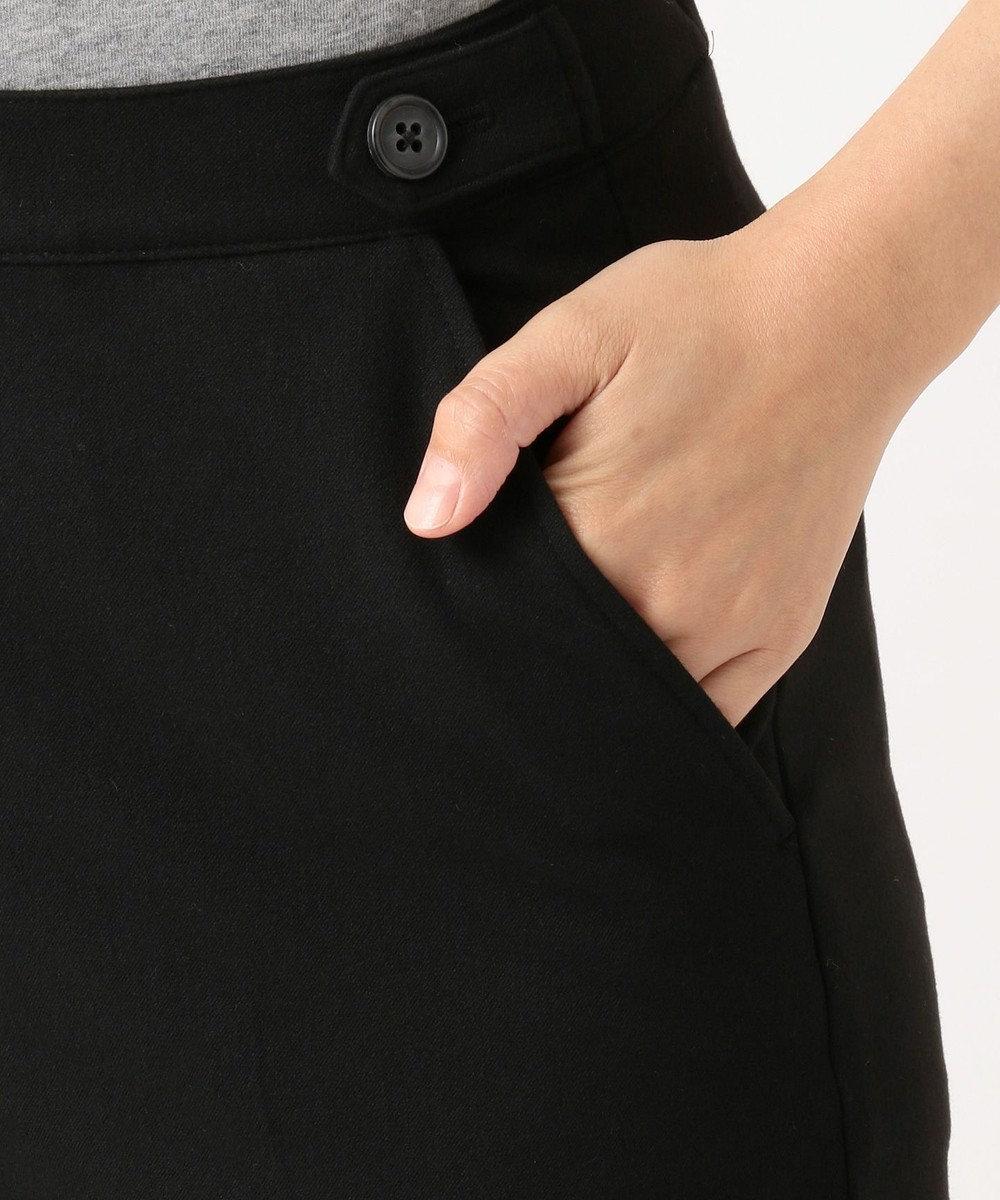 J.PRESS LADIES L 【洗える】チェルビック 無地 クロップドパンツ ブラック系