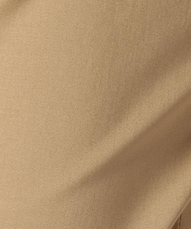 J.PRESS LADIES L 【Lsizeのための楽らく前カン】コットンサテンストレッチ クロップドパンツ