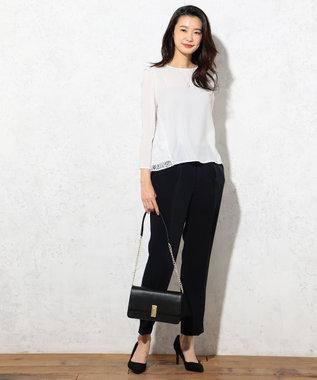 J.PRESS LADIES 【セットアップ対応】ヴィーナスダブルクロス パンツ ネイビー系