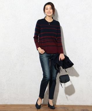 J.PRESS LADIES L 【定番人気・洗える!】ディースペック デニムパンツ ブルー系
