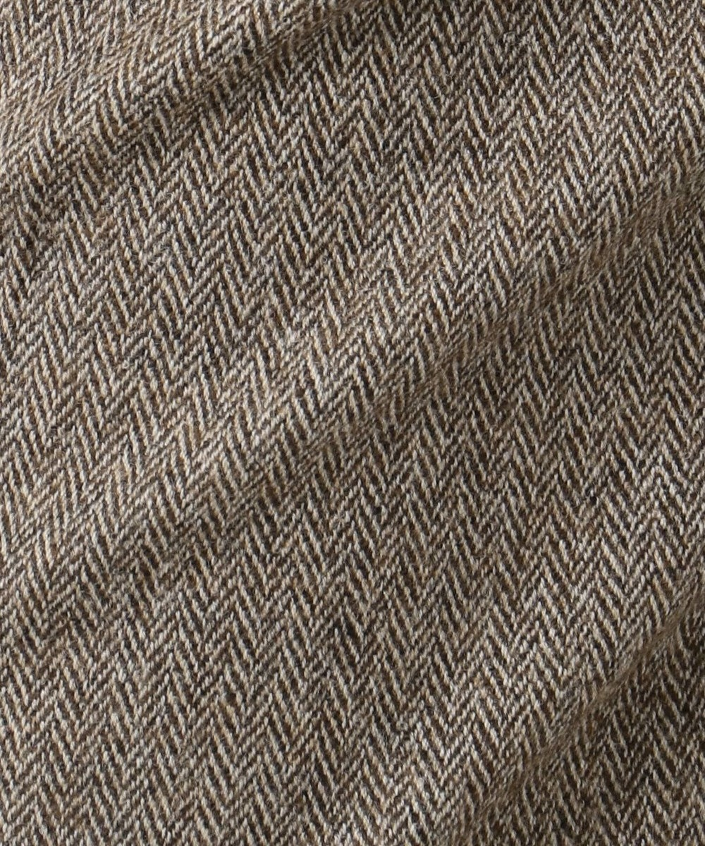 J.PRESS LADIES S 【スーツ対応】ウールストレッチヘリンボーン パンツ ダークブラウン系7