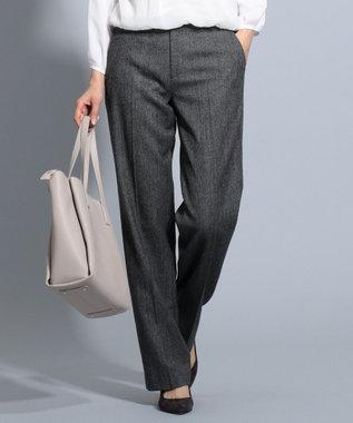 J.PRESS LADIES S 【スーツ対応】ウールストレッチヘリンボーン パンツ グレー系7