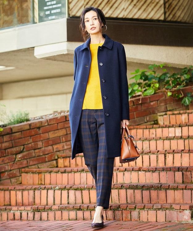 J.PRESS LADIES L 【洗える】NEWチェルビックチェック テーパードパンツ