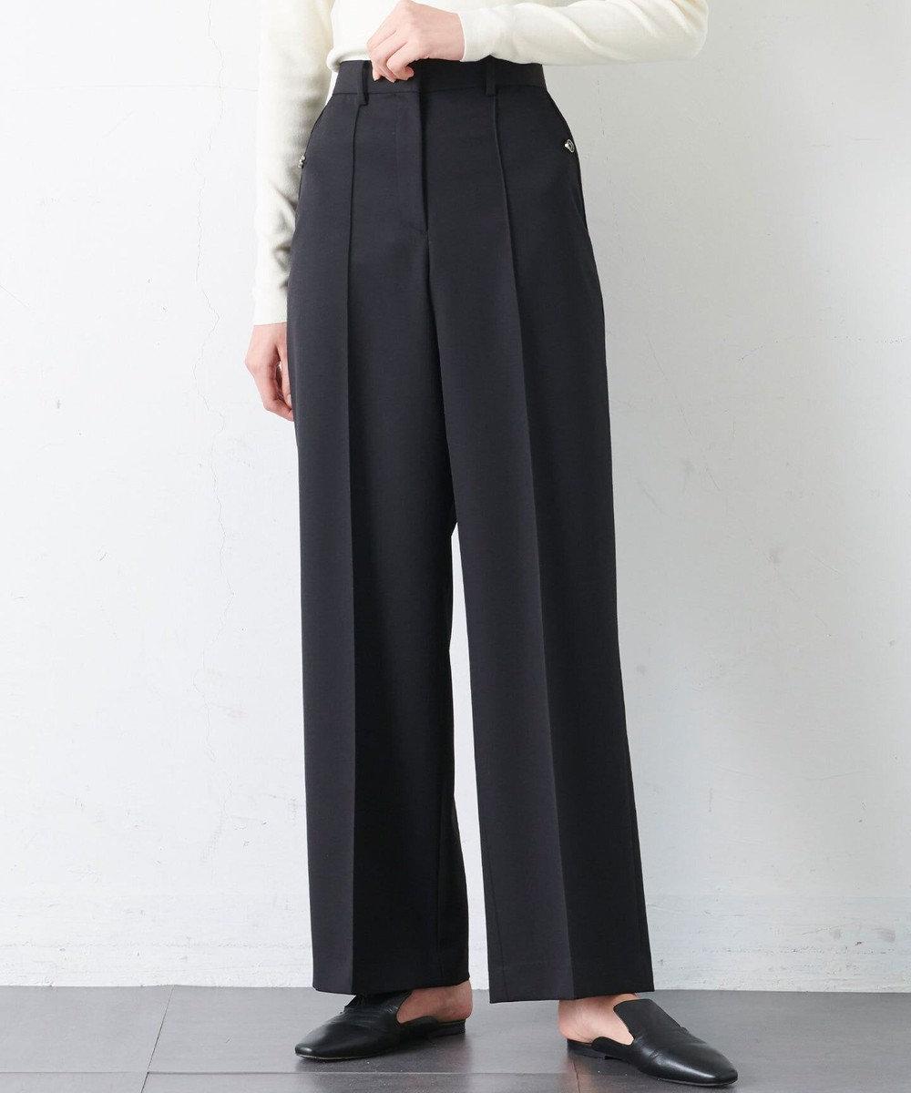 JOSEPH 【JOSEPH STUDIO・百々千晴さん推薦】シャンブレーウール パンツ ブラック系