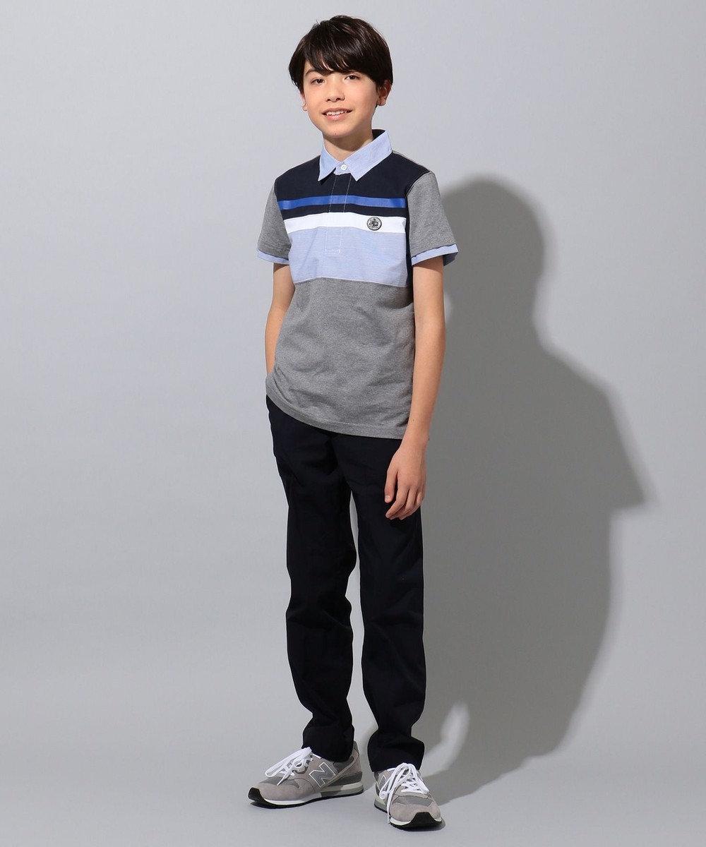 J.PRESS KIDS 【撥水・撥油/140-170cm】ナノウィング TCタイプライター パンツ ネイビー系