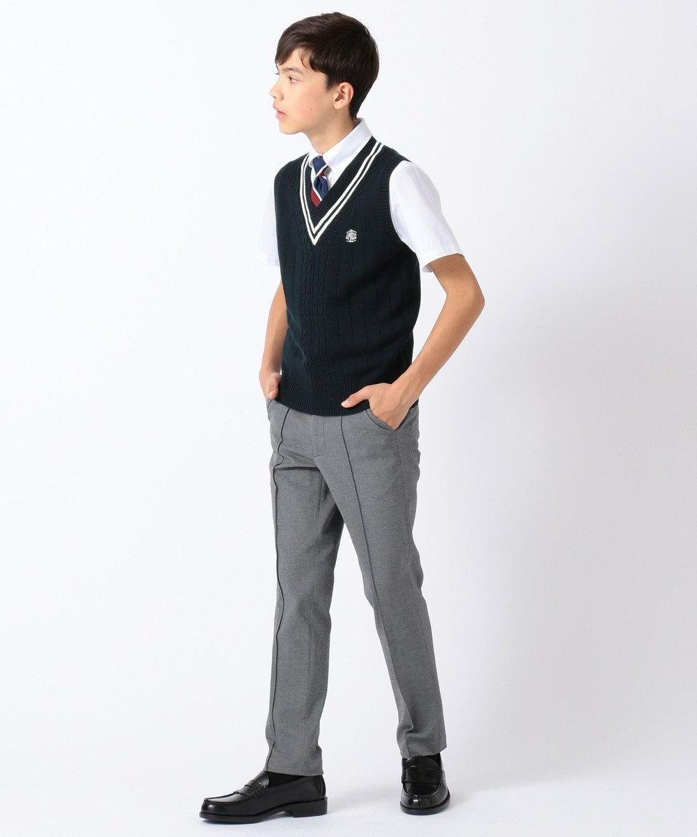 J.PRESS KIDS 【150-170cm】60/-モクロディ パンツ ライトグレー系