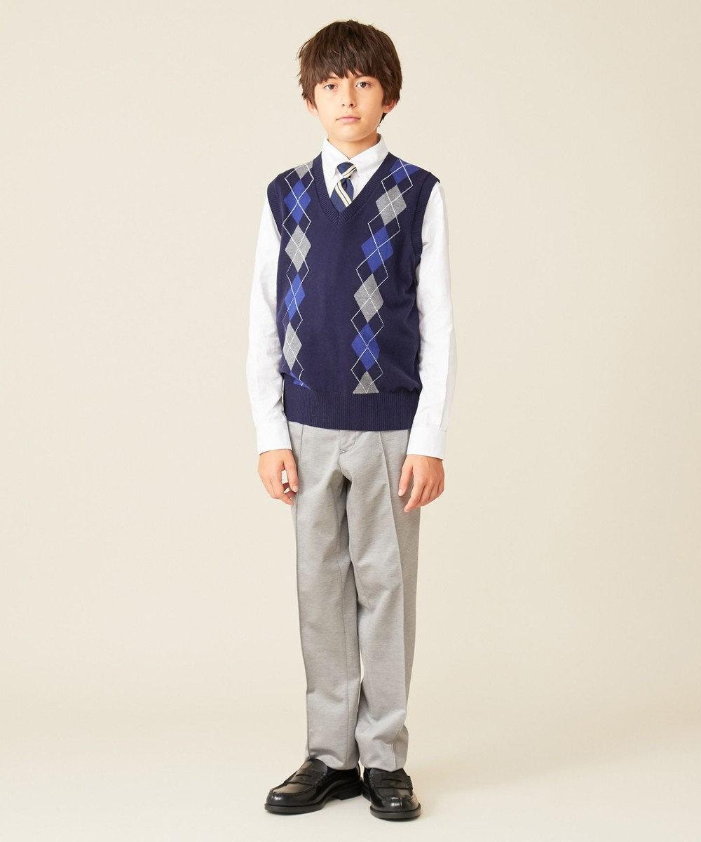 J.PRESS KIDS 【140-170cm】コンパクトシルキーモクロディ パンツ ライトグレー系