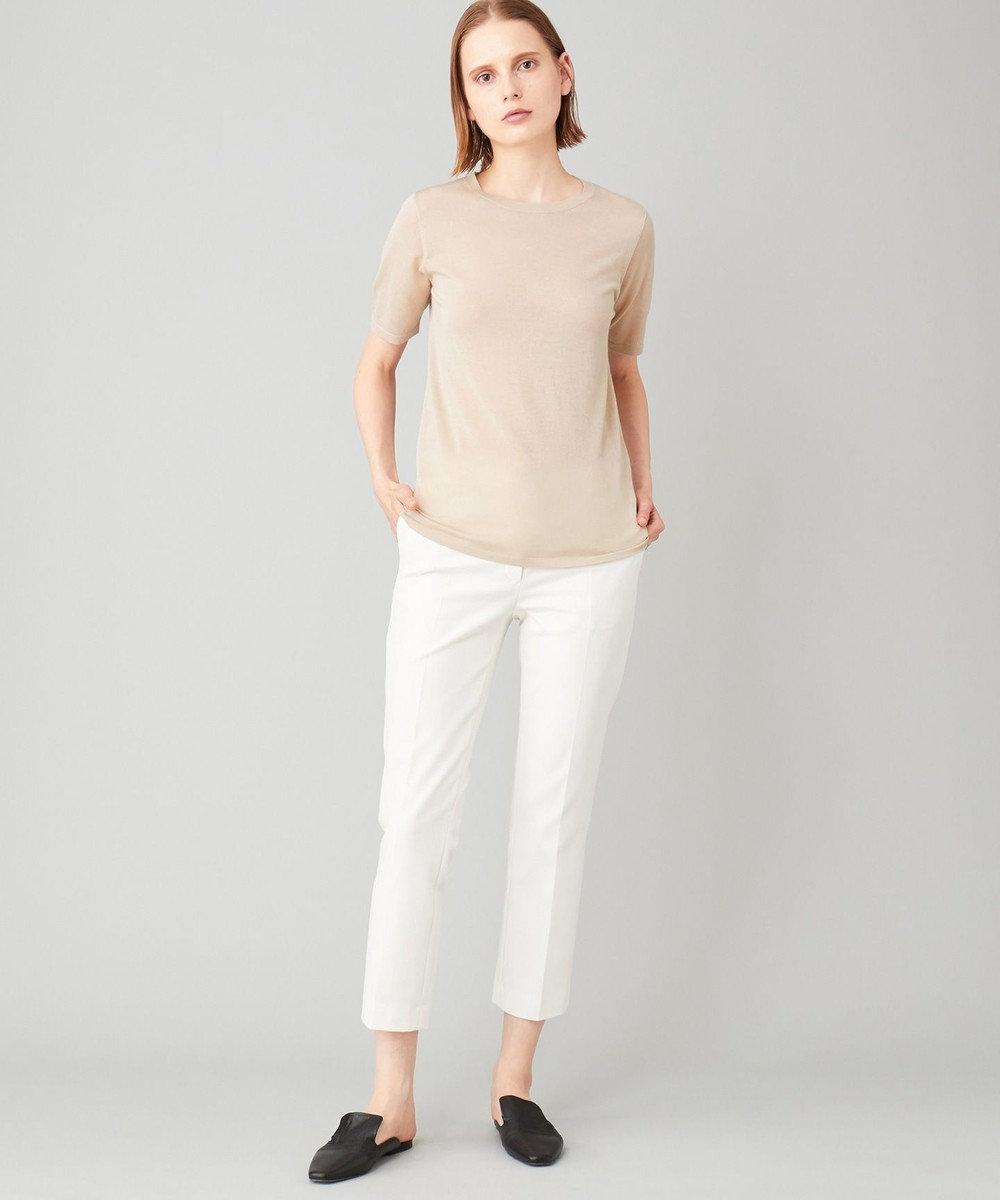 JOSEPH 【洗える】ZOOM / コットンダブルクロス パンツ ホワイト系