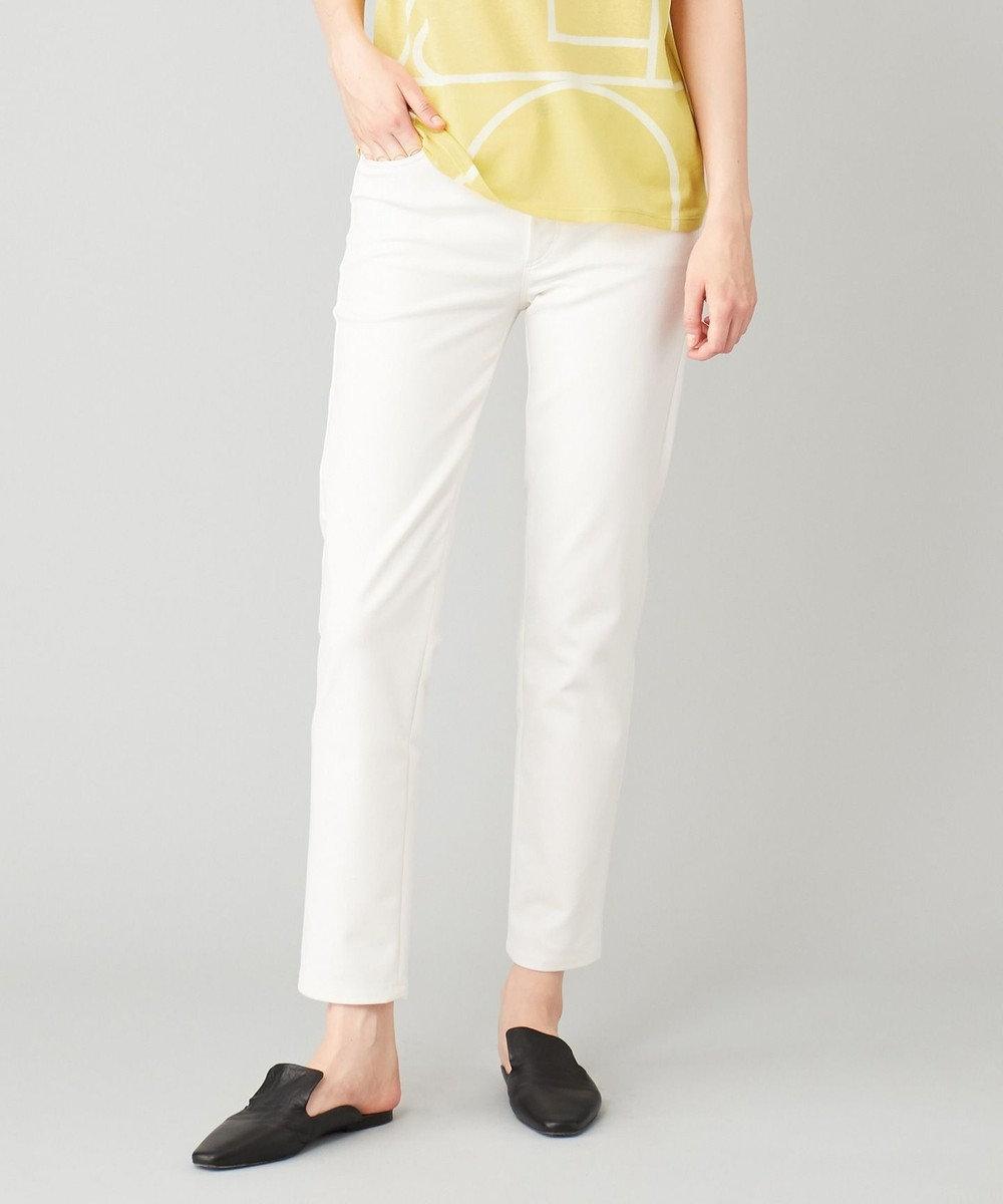 JOSEPH 【洗える】MILLER / コットンダブルクロス ストレッチ パンツ ホワイト系