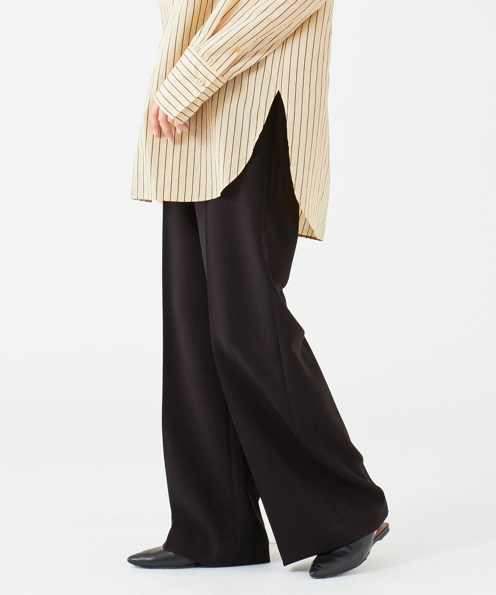 JOSEPH 【洗える】ALANA / バギージョーゼット パンツ ブラック系