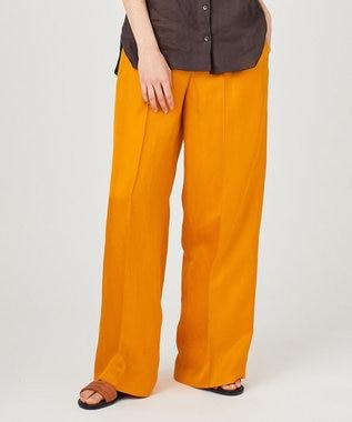 JOSEPH RABAT / グロッシーツイル パンツ オレンジ系
