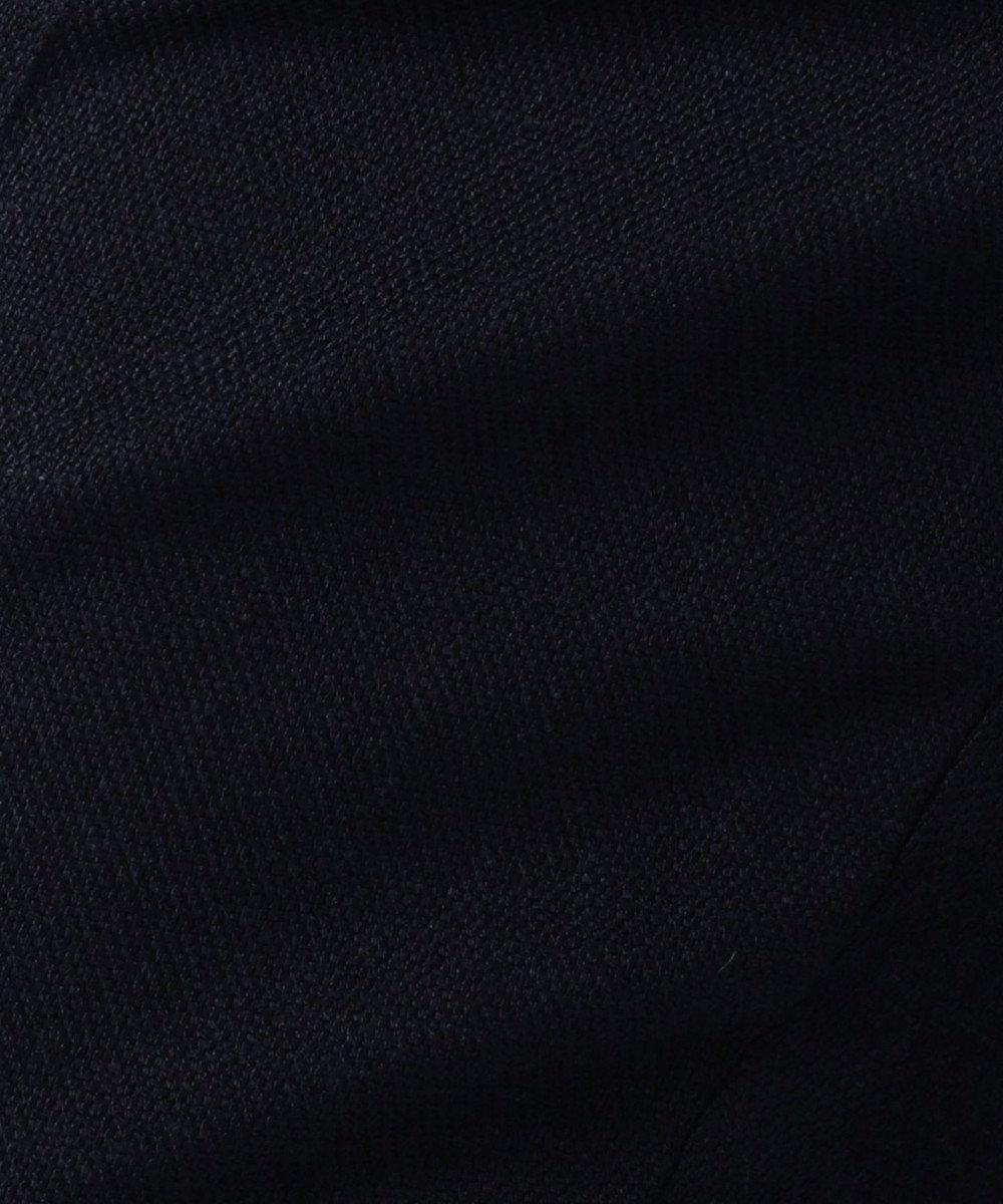 JOSEPH 【FIGARO5月号掲載】ZOOM BUTTON / ホップサックストレッチ パンツ ネイビー系