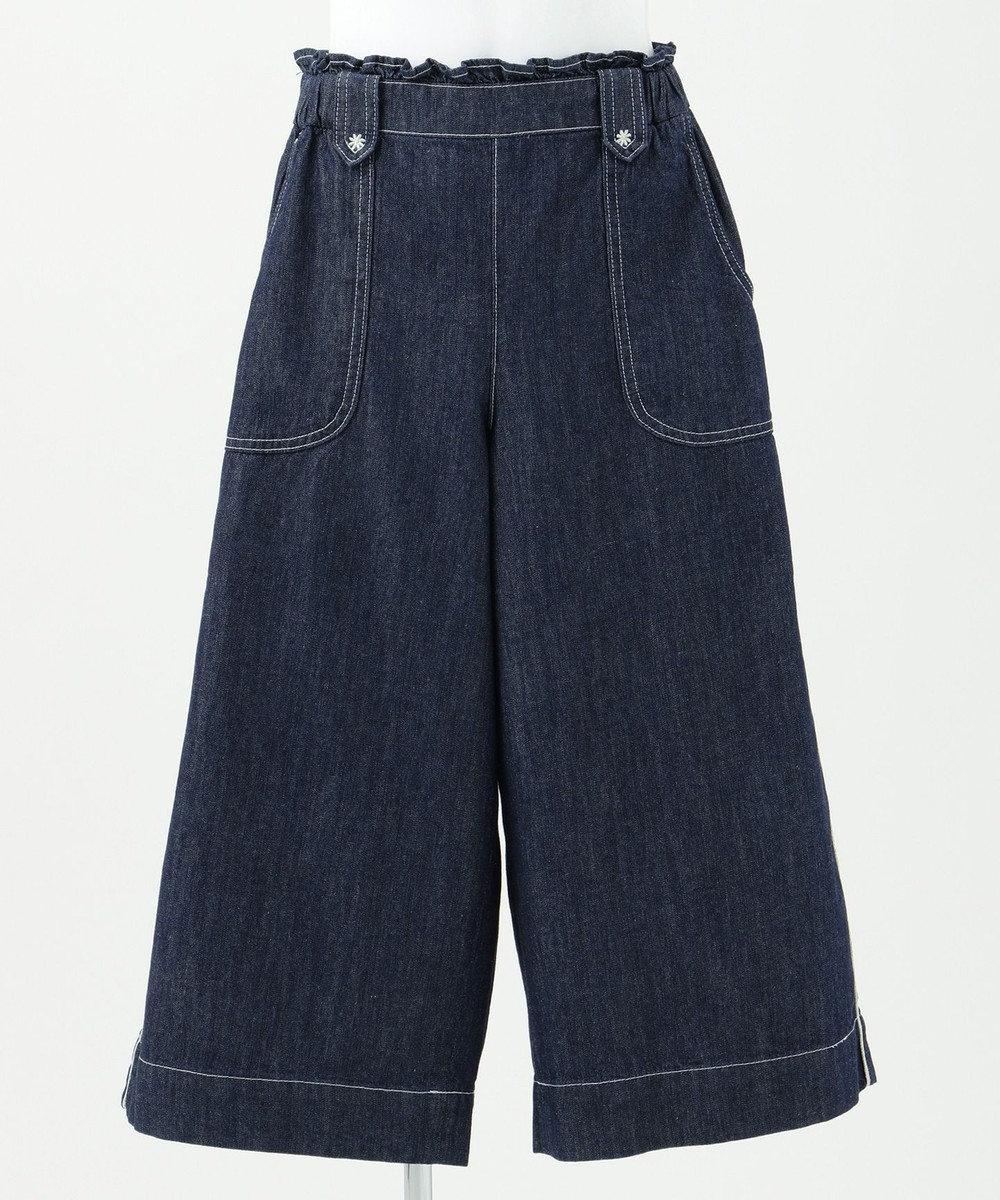 組曲 KIDS 【150-170cm】デニムワイドパンツ ネイビー系
