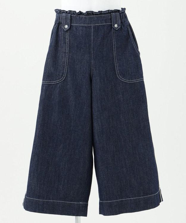 組曲 KIDS 【150-170cm】デニムワイドパンツ