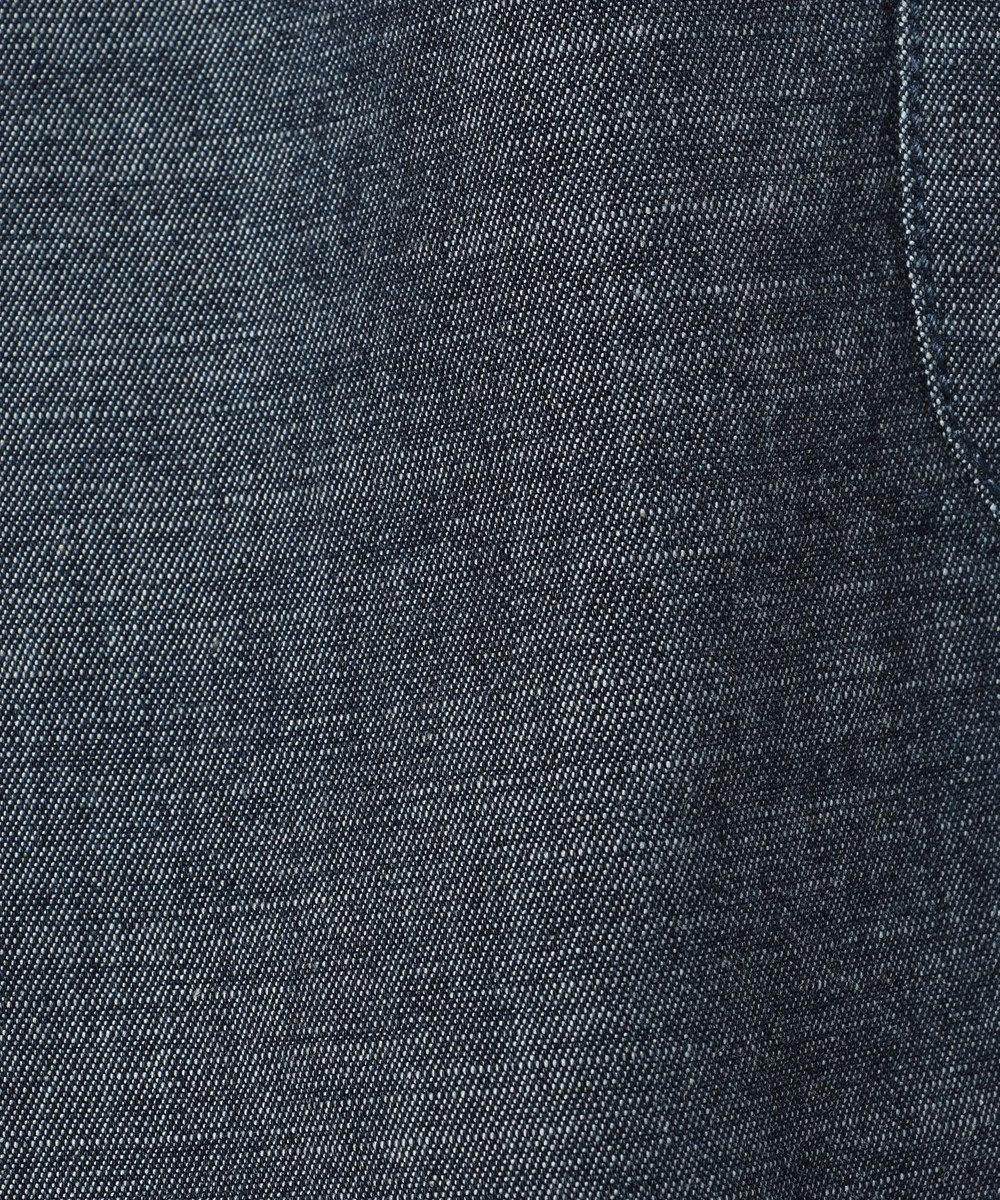組曲 KIDS 【PURETE】綿麻メランジデニム パンツ (サスペンダー取り外しOK) ブルー系