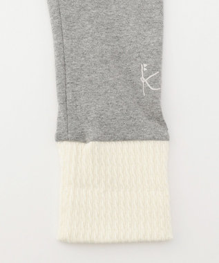 組曲 KIDS 【80-100cm】24/-ストレッチ天竺 スパッツ グレー系