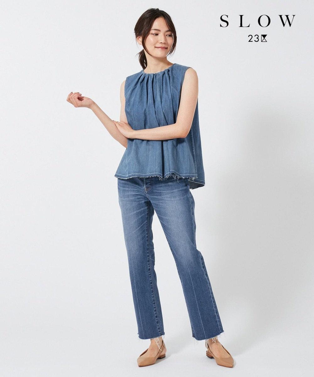 23区 【SLOW】ストレートデニムパンツ ブルー系