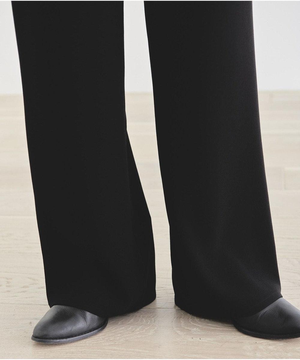 #Newans 【新色登場しました!】ジョーゼットストレートパンツ ブラック系
