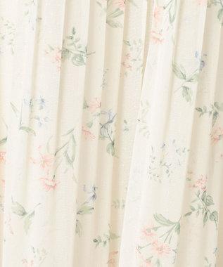 Feroux 【洗える】フローレットシアーシフォン パンツ アイボリー系3