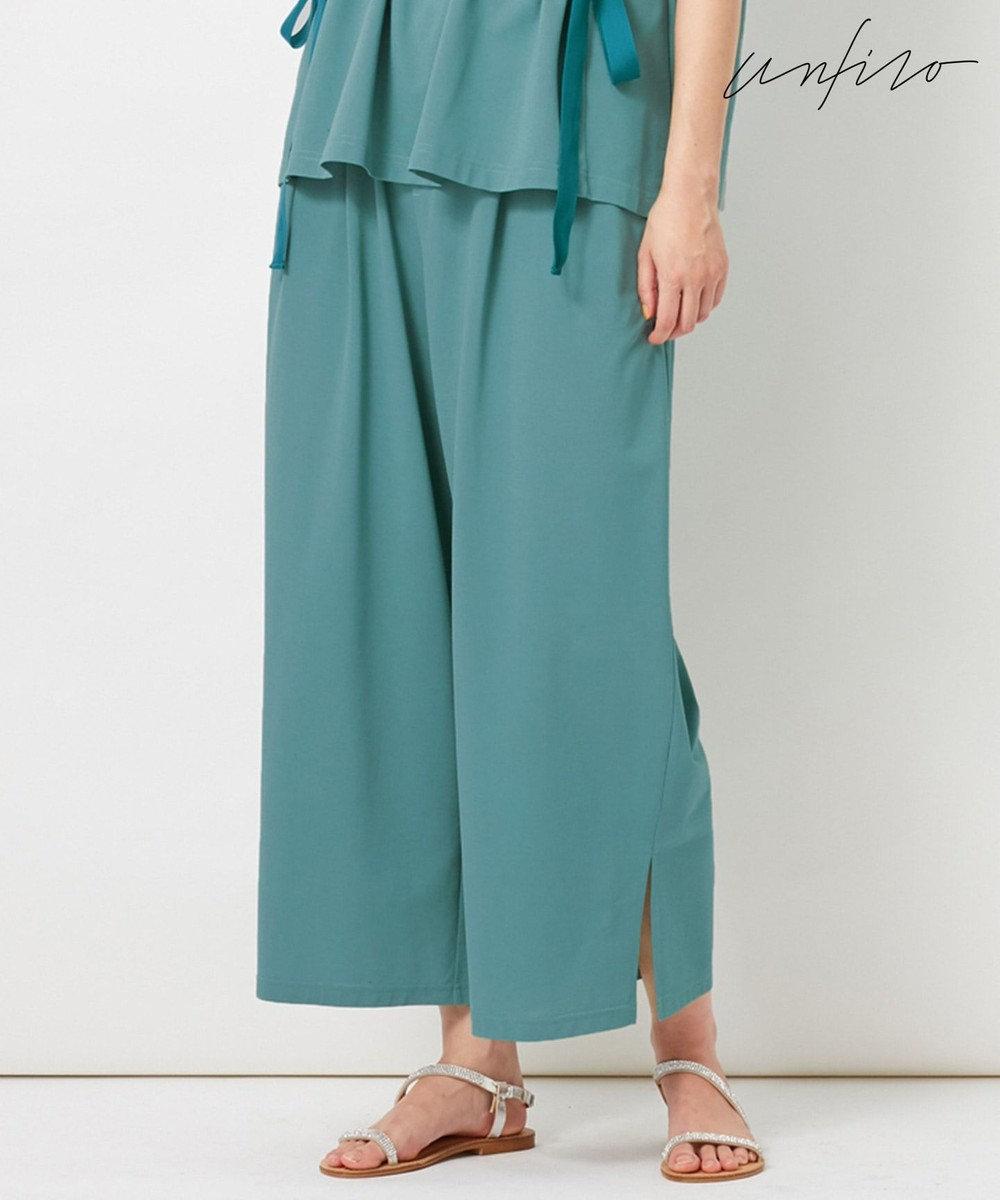 自由区 【Unfilo】KANOKO BLEND セミワイドパンツ ブルー系
