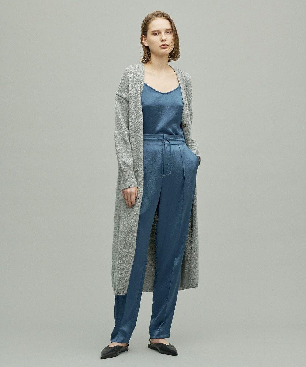 uncrave ビンテージサテン パンツ ブルー系