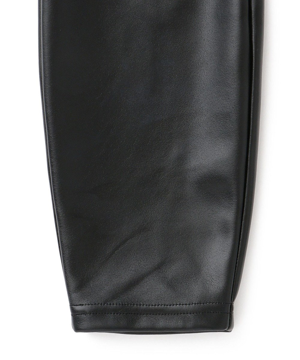 uncrave 【追加生産】エコレザー レギンスパンツ ブラック