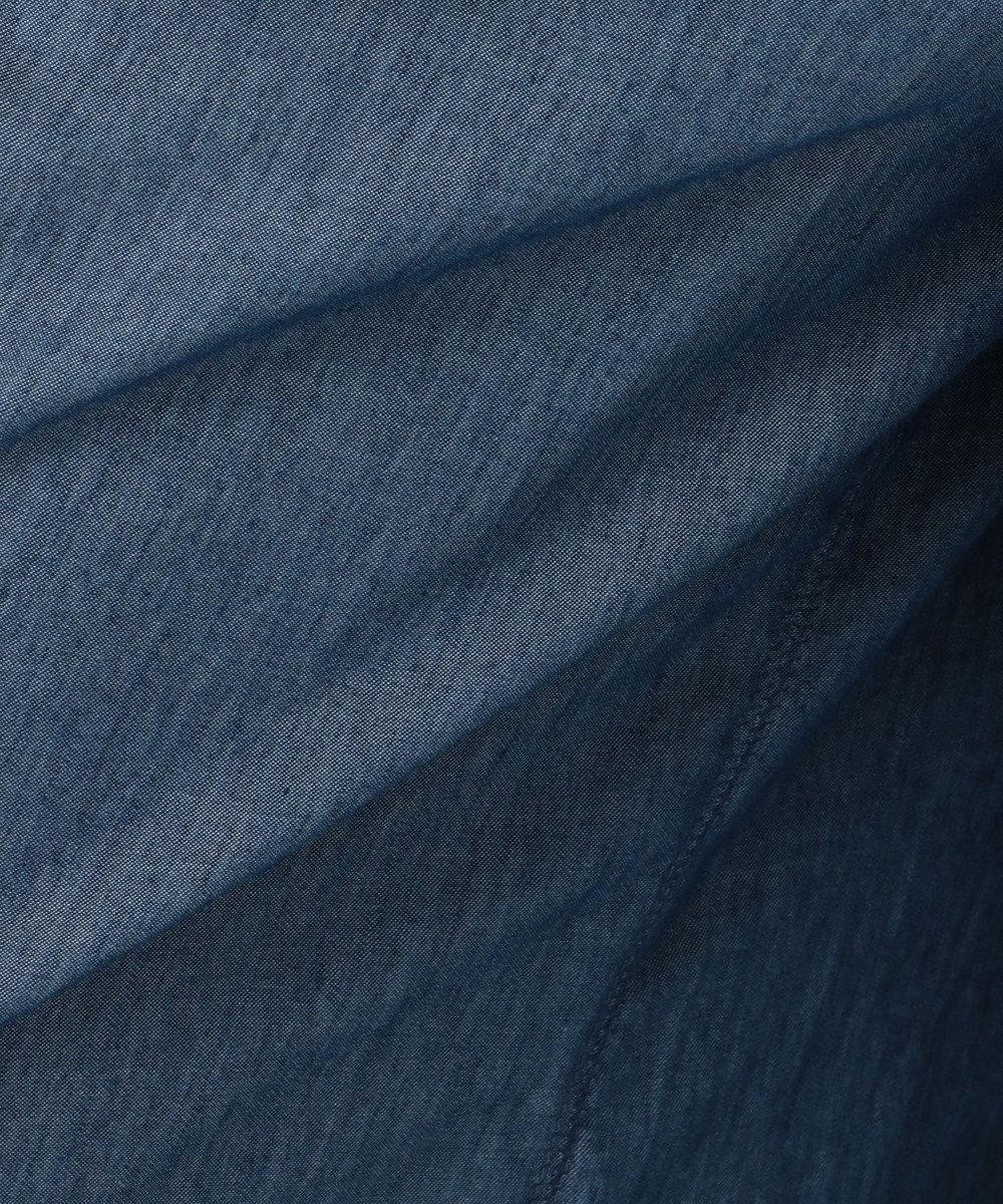 自由区 【マガジン掲載】BLUE ライトオンス デニムワイドパンツ(検索番号G32) ネイビー系
