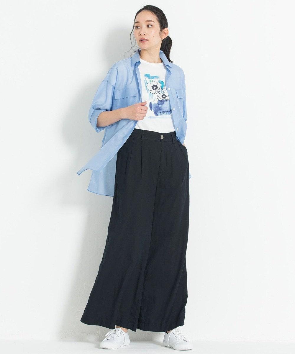 自由区 【マガジン掲載】BLUE ライトオンス デニムワイドパンツ(検索番号G32) ブラック系