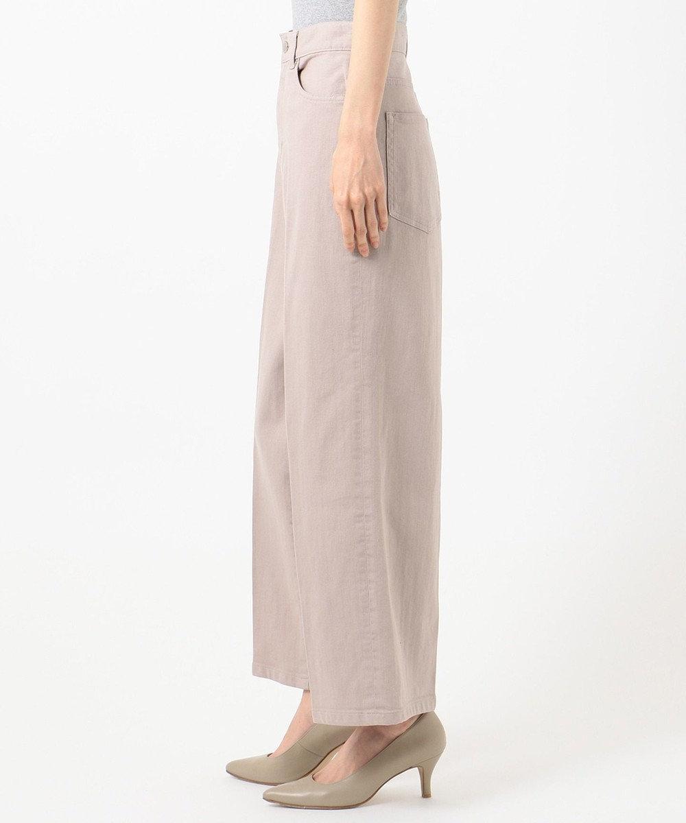 自由区 【Sサイズ有】デニム ワイドパンツ ローズ系