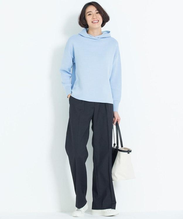 自由区 L 【亜希さん着用】リランチェ センタープレスワイドパンツ(検索番号E43)