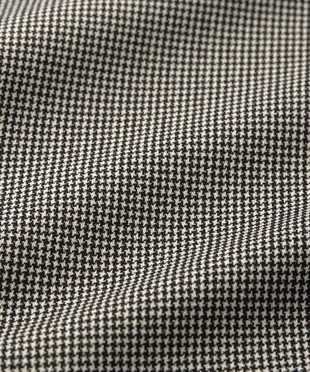 自由区 【マガジン掲載】ストレッチベネシャン イージーワイドパンツ(検索番号N69) ブラック系チェック