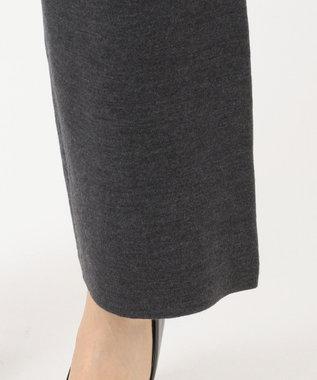 自由区 【洗える】LANA BLEND ニットワイドパンツ チャコールグレー