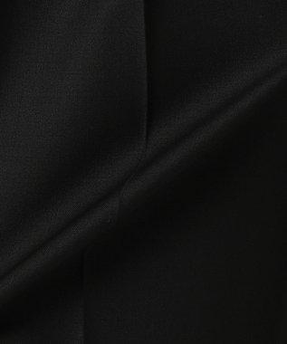 23区 L 【洗える】サマーウールトロピカルパンツ ブラック系
