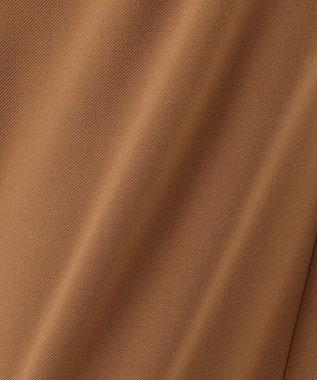 23区 ストレッチギャバ ワイド パンツ キャメル系