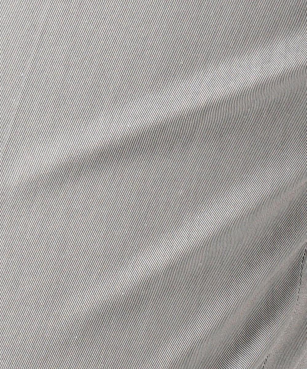 23区 【洗える】スーピマシャンブレー パンツ ブラック系1