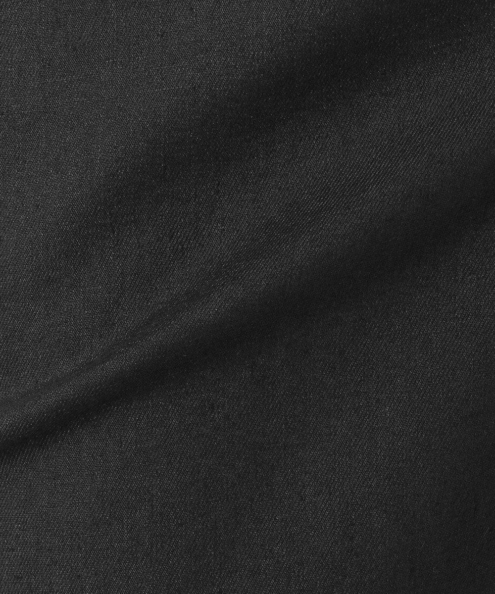 23区 【洗える】リネンツイルストレッチキュロットパンツ ブラック系