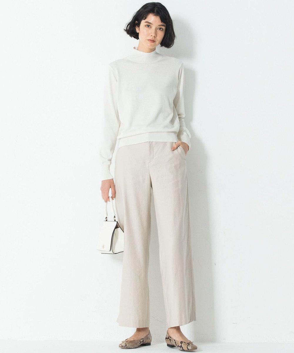 23区 L 【洗える】Vintege Soft Twill ワイドパンツ ベージュ系