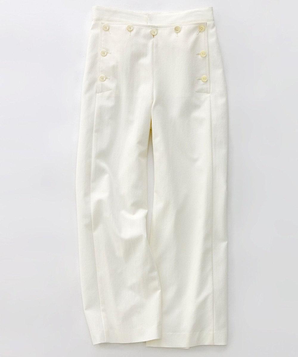 23区 L 【洗える】Marine Stretch マリンパンツ ホワイト系