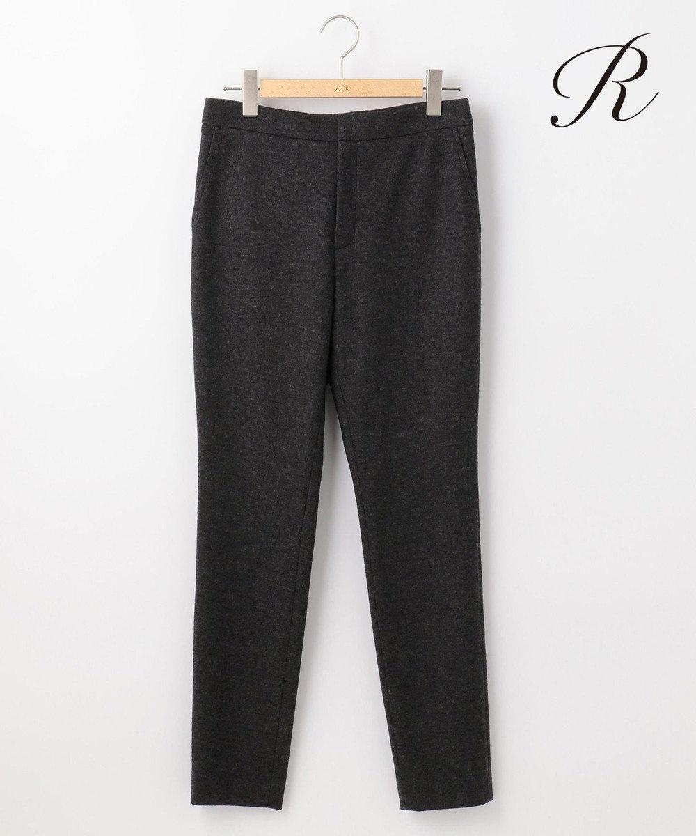 23区 【R(アール)】FINE WOOL JERSEY テーパード パンツ グレー系