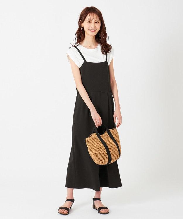 any SiS S 【洗える】フェミニンワイド サロペット