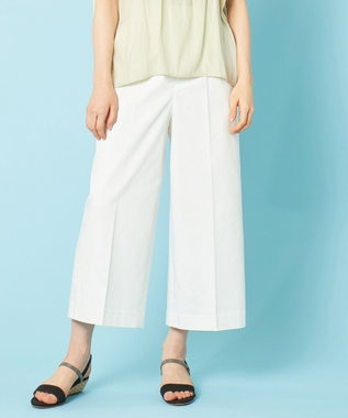 any SiS 【UVケア】クールタッチミラクルガード ワイドパンツ オフホワイト