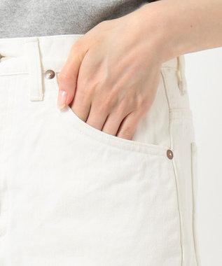 any SiS 【L'aube】Lee テーパードホワイト デニムパンツ ホワイト系