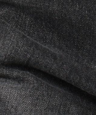 any SiS 【WEB限定】Lee テーパードブラック デニムパンツ ブラック系