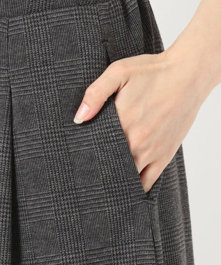 any SiS 【洗える】ウィンタードレープジャージー ガウチョパンツ モノトーン