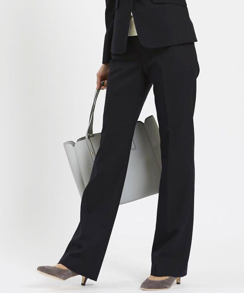 any SiS (スーツ対応)【洗える】T/Rウォッシャブルスーツ パンツ ネイビー系